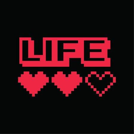 T-SHIRT LIFE SQUARE - VITA