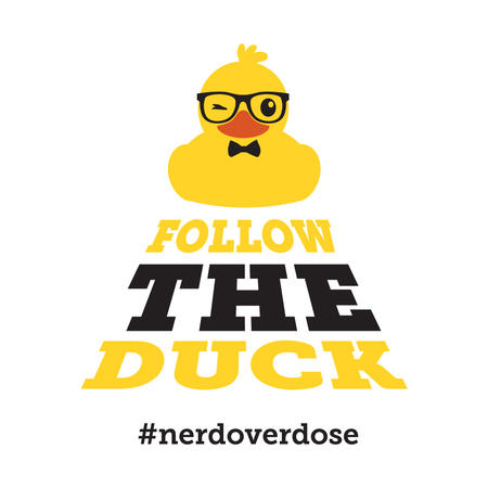 T-SHIRT FOLLOW THE DUCK - NERDOVERDOSE