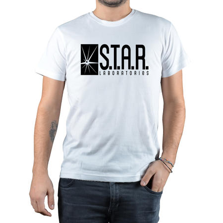T-SHIRT FANDOM - STAR LABORATORIES - BIANCO