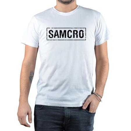 T-SHIRT FANDOM - ANARCHY SAMCRO - BIANCO