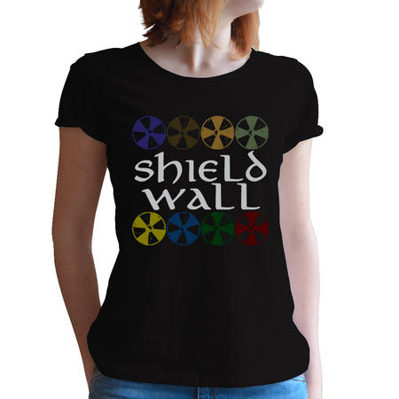 T-SHIRT DONNA FANDOM - VIKINGS SHIELD WALL