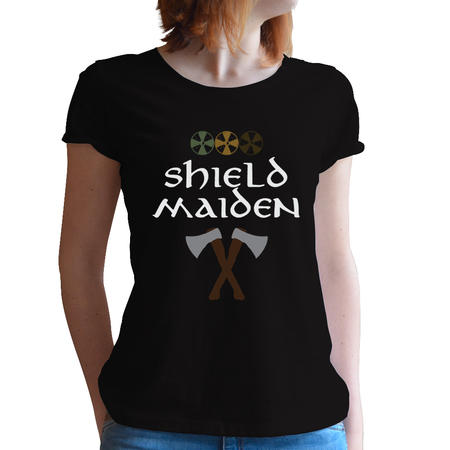 T-SHIRT DONNA FANDOM - VIKINGS SHIELD MAIDEN