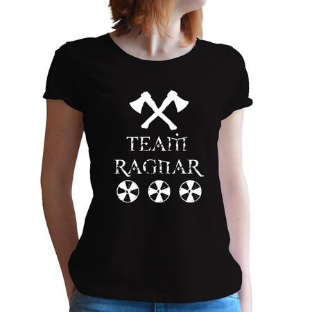 T-SHIRT DONNA FANDOM - VIKINGS TEAM RAGNAR