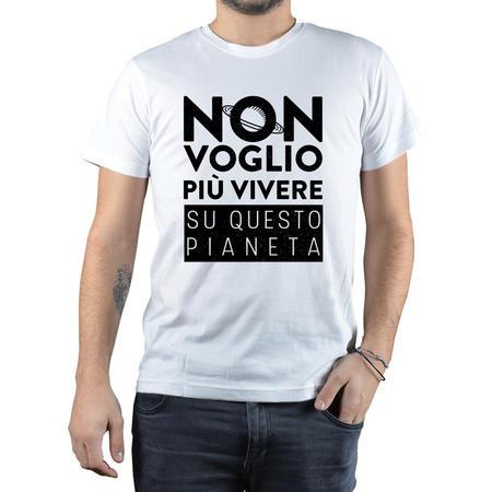 T-SHIRT NON VOGLIO VIVERE SU QUESTO PIANETA
