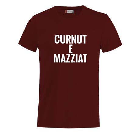 T-SHIRT CURNUT E MAZZIAT - IL TERRONE IMBRUTTITO - BIANCO