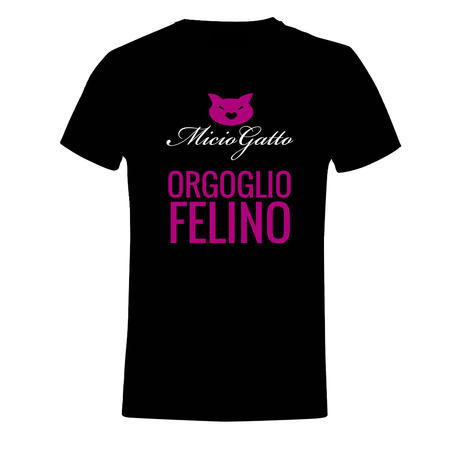 T-SHIRT MICIOGATTO NERO - ORGOGLIO FELINO
