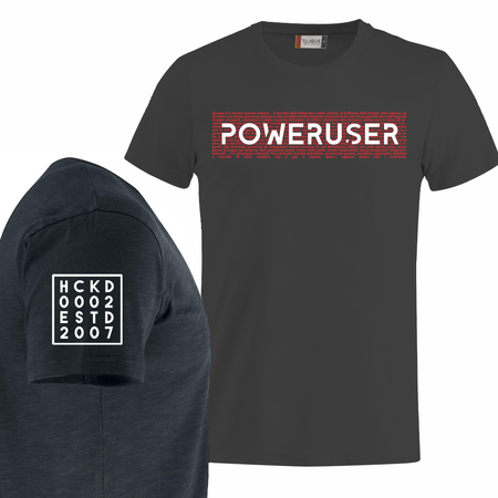 T-SHIRT NERA POWER-USER PHILOSOPHY