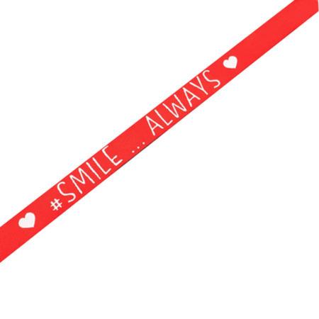 BRACCIALE ROSSO #SMILE ALWAYS - LASABRI
