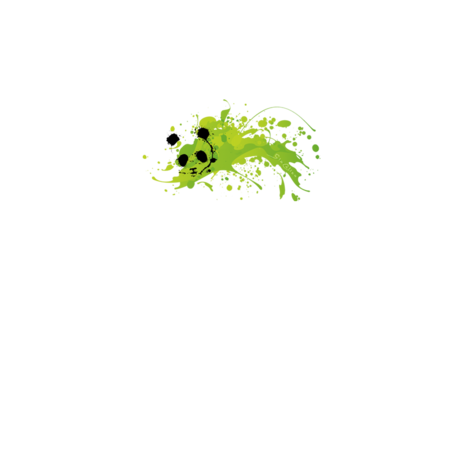 FELPA ROUND GIOCALIEN - PANDA GREEN - BIANCO