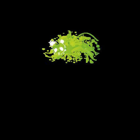 T-SHIRT GIOCALIEN - PANDA GREEN - BIANCO