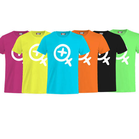 T-SHIRT CARTOON LOGO BIANCO FLUO - LASABRI