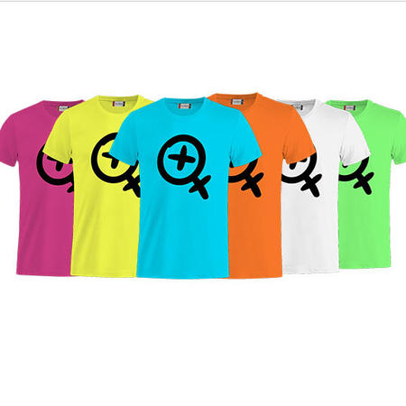 T-SHIRT CARTOON LOGO NERO FLUO - LASABRI